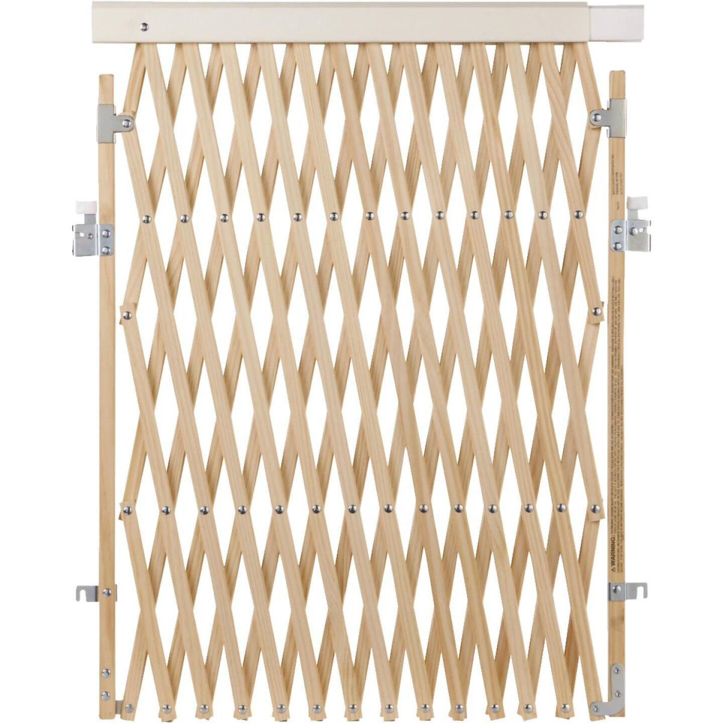 North States 60 In. Expandable Natural Wood Safety Gate Image 1
