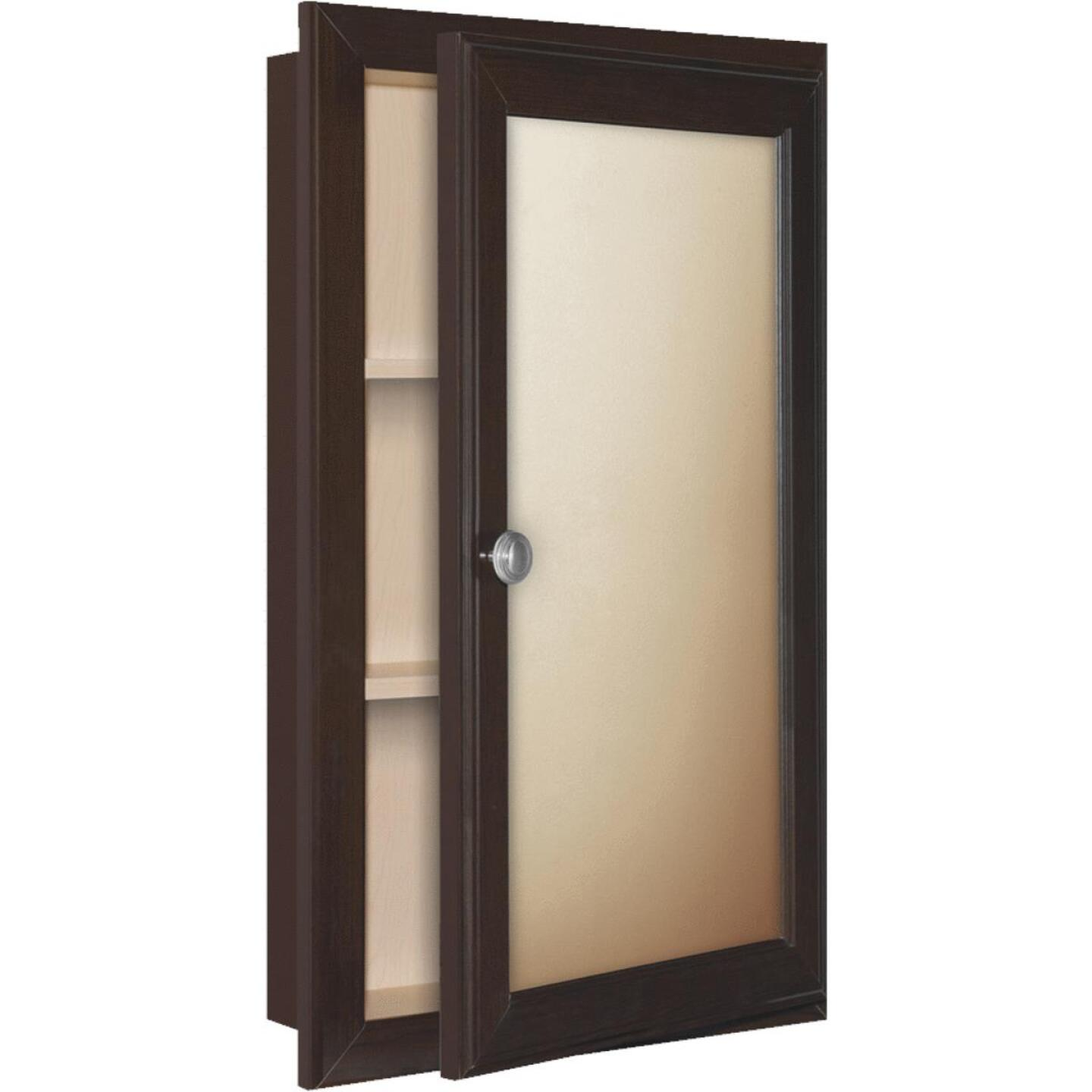 Continental Cabinets Java 15.75 In. W x 25.75 In. H x 4.75 In. D Single Mirror Surface/Recess Mount Framed Medicine Cabinet Image 1