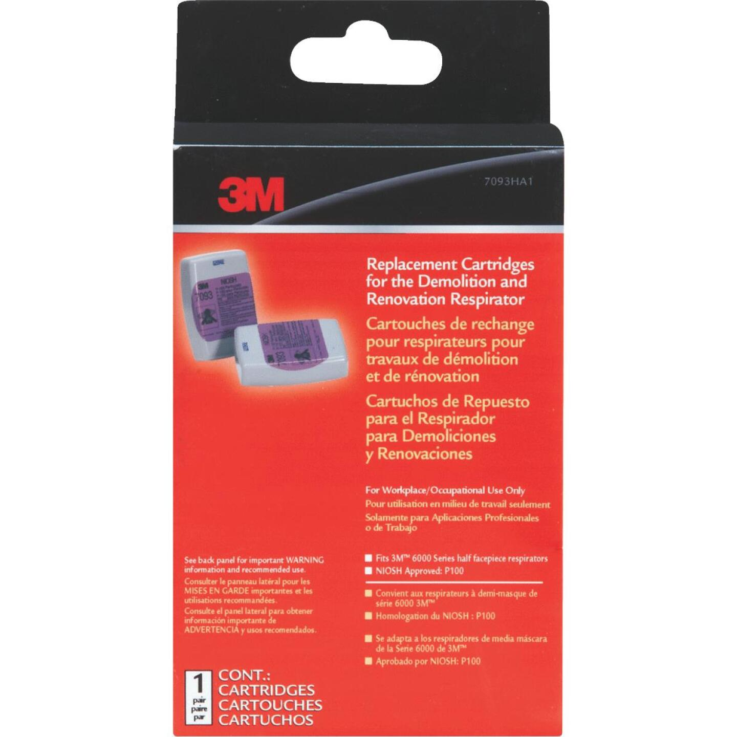 3M P100 Demolition Replacement Filter Cartridge (2-Pack) Image 2