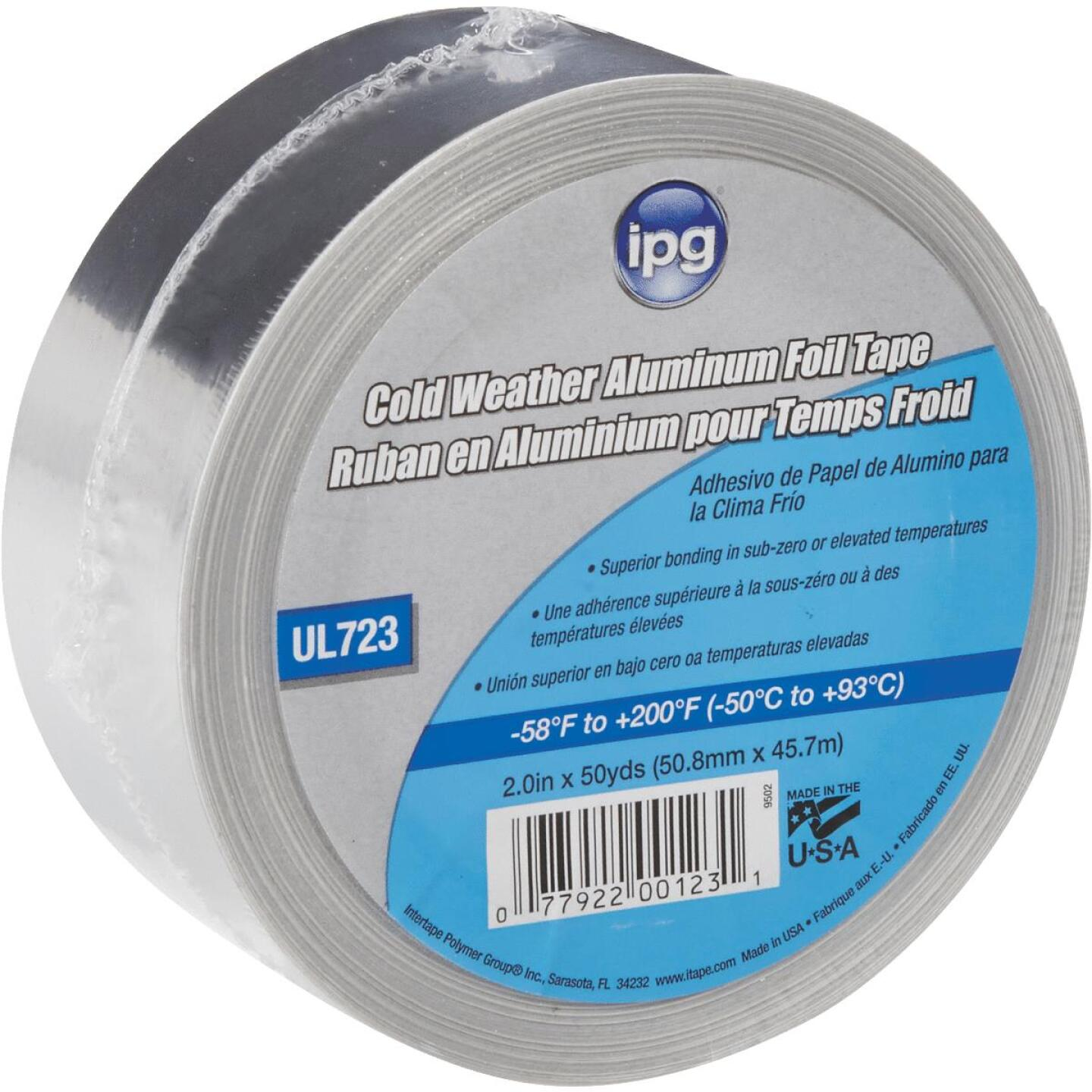 Intertape 2 In. x 50 Yd. UL723 Cold Weather Aluminum Foil Tape Image 1