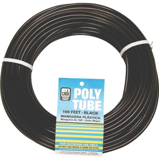 Dial 1/4 In. OD x 100 Ft. L Black Poly Tubing