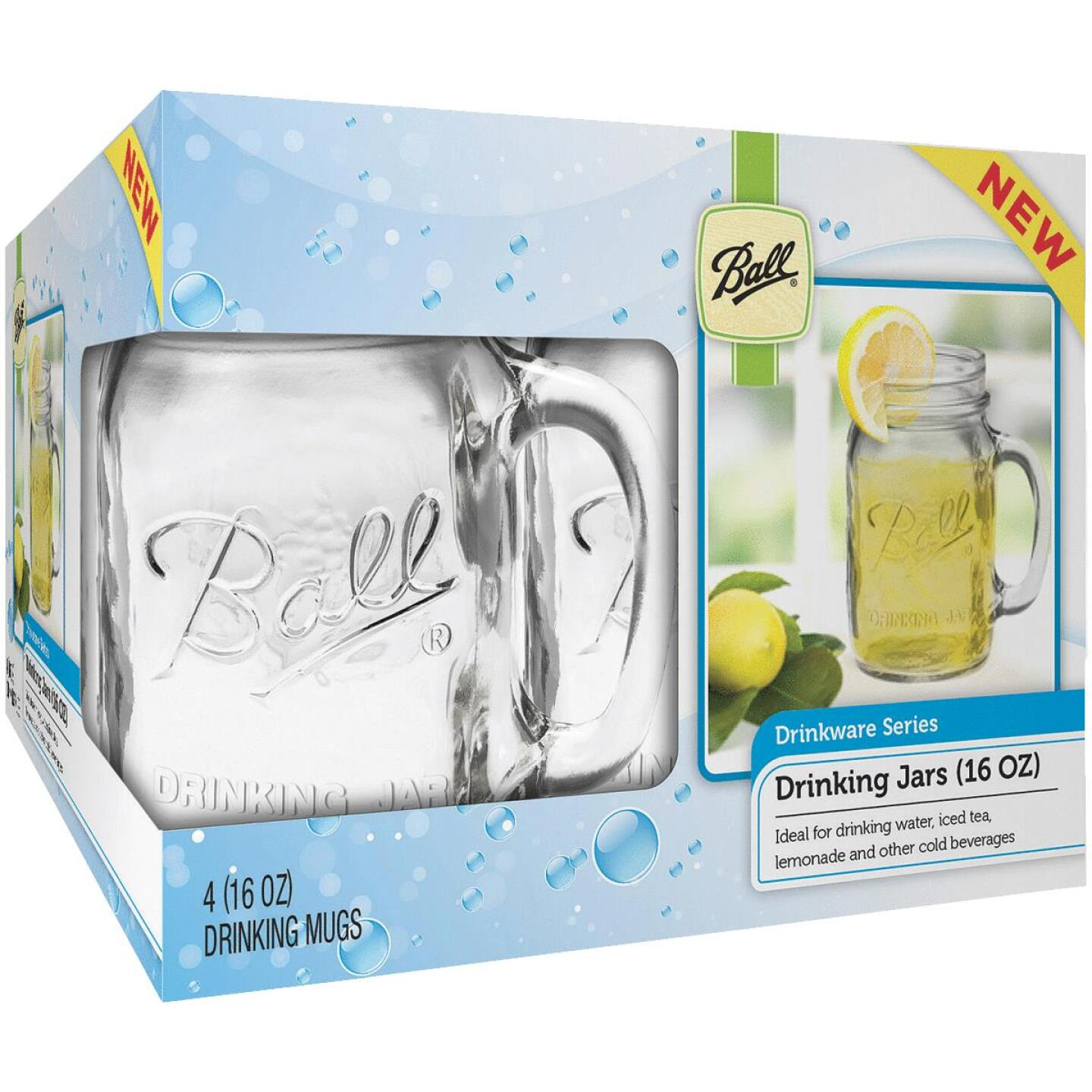 Ball 16 Oz. Drinking Mug Canning Jar (4 Pack) Image 1