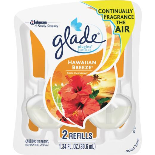Glade PlugIns Hawaiian Breeze Scented Oil Refill (2-Count)