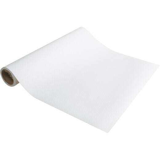 Con-Tact 12 In. x 5 Ft. White Non-Adhesive Shelf Liner