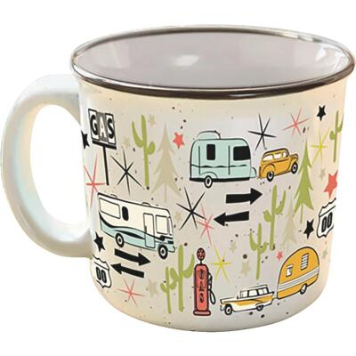 Camp Casual 15 Oz. Wanderlust Ceramic Coffee Mug