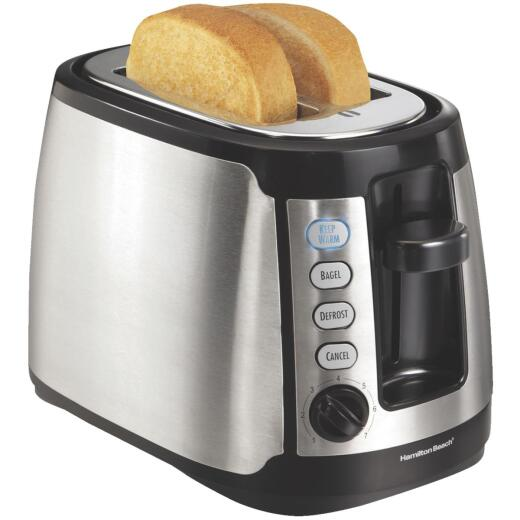 Hamilton Beach 2-Slice Keep Warm Silver Toaster