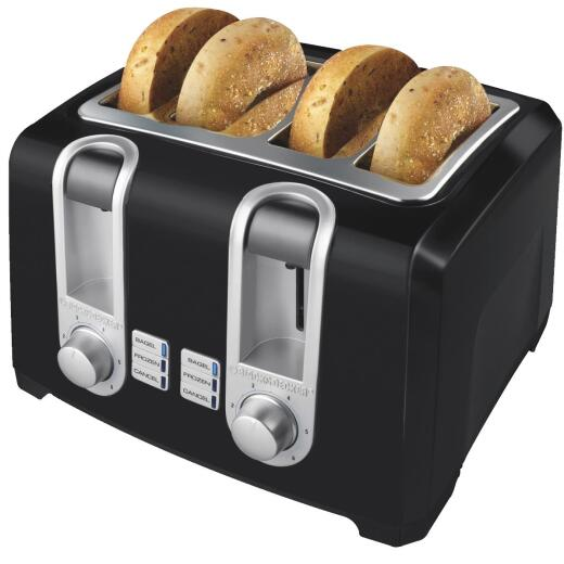 Black & Decker 4-Slice Black Toaster