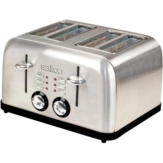 Salton 4-Slice Stainless Steel Toaster