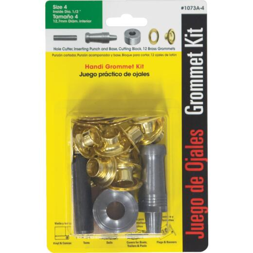 Lord & Hodge 1/2 In. Brass Grommet Kit