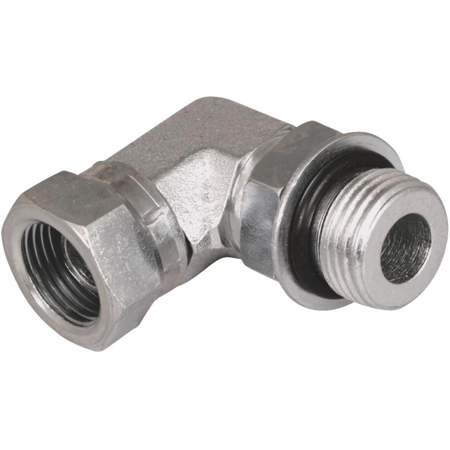 Apache 1/2 In. Male O-Ring x 1/2 In. Female Pipe Swivel 90 Deg. Hydraulic Hose Adapter Image 1