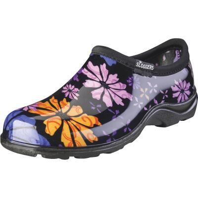 Sloggers Women's Size 8 Black w/Flower Design Garden Shoe