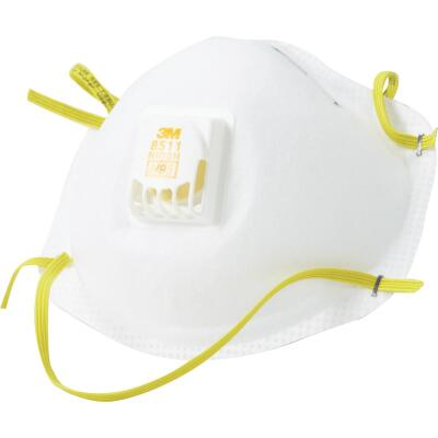 3M N95 Woodworking, Sanding and Fiberglass Valved Respirator (10-Pack)