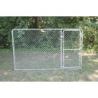 Fence Master Silver Series 10 Ft. W. x 6 Ft. H. Steel Kennel Panel with Door Image 1